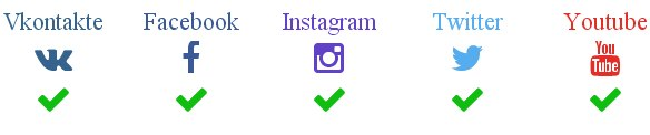 ВкТаргет подключение социальных сетей